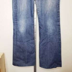 7 For All Mankind Jeans - 7FAM Dojo Flare Jeans Medium Wash
